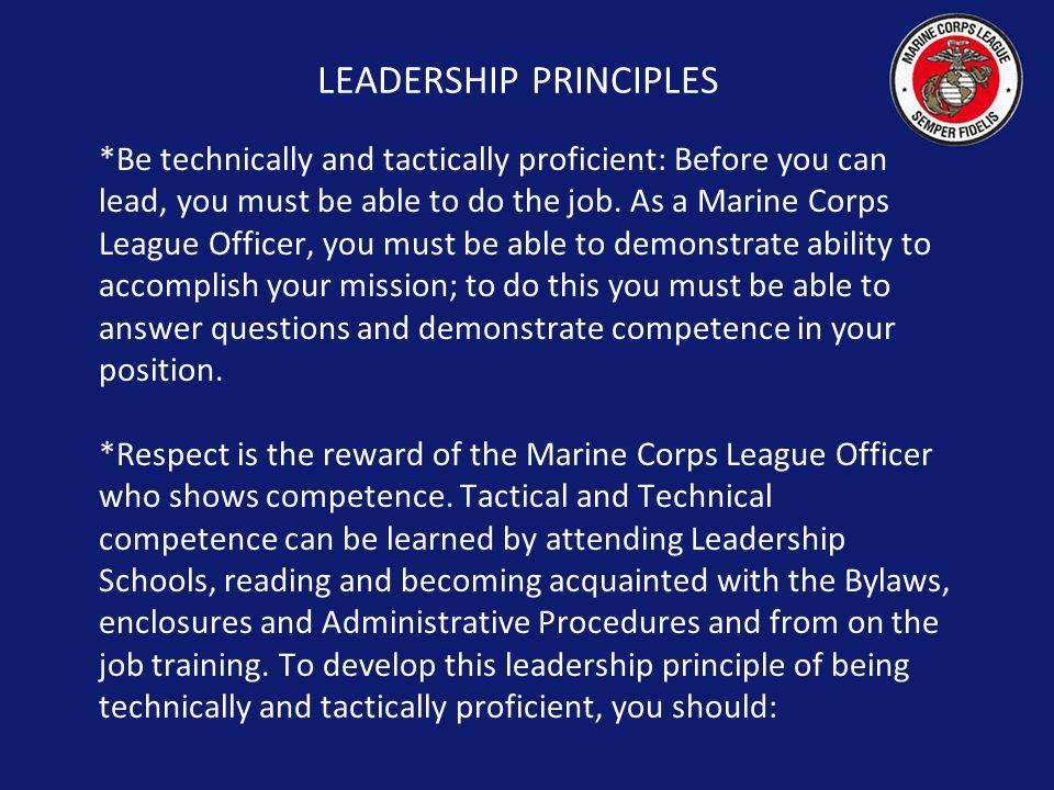 Marine corps leadership essay