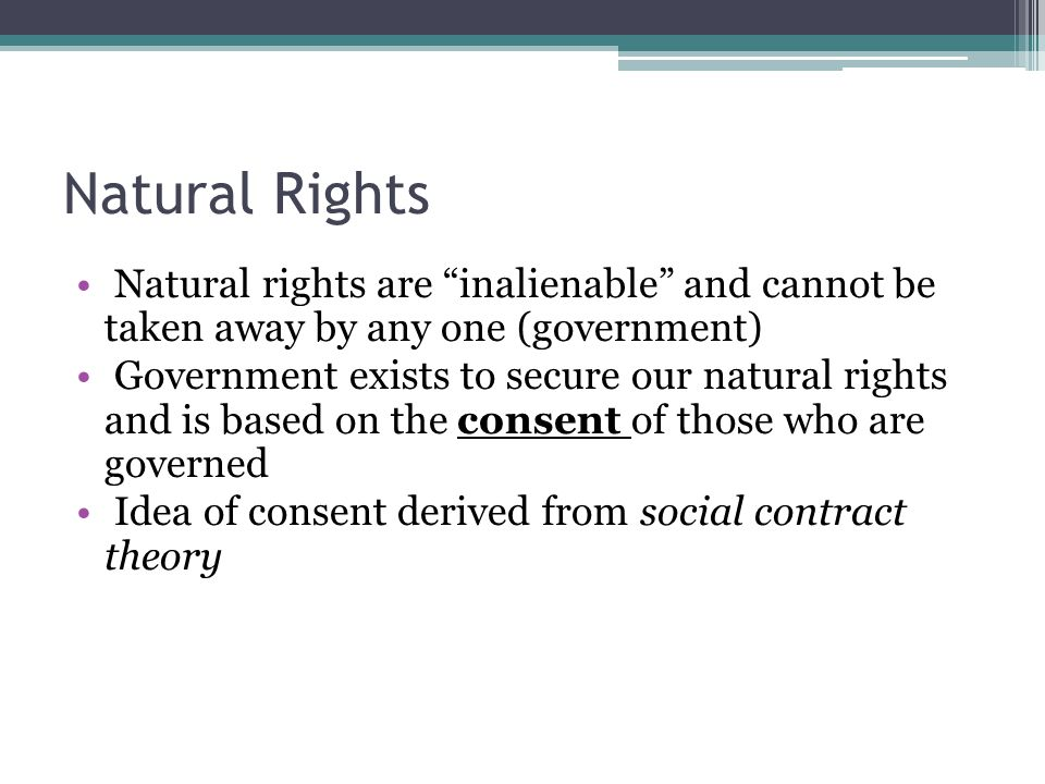 problem of inalienable rights for the will theory Jefferson's and the other framers' views on natural rights were derived from john   and reason, which is that law, teaches all mankind who will but consult it that,   are speaking of human rulebooks, it is much easier to answer that question.