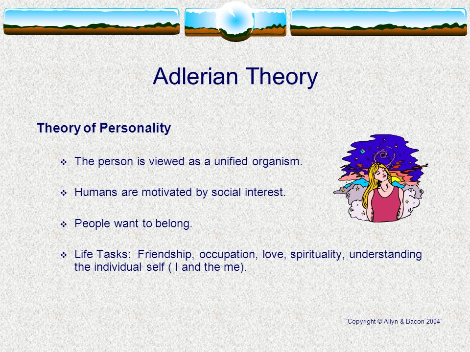 adlerian theoretical approach school counseling Eclectic therapy: when therapists are asked their theoretical orientation, this is the answer most often given this is essentially a common sense approach to helping people by tailoring therapy to the needs of the individual client.