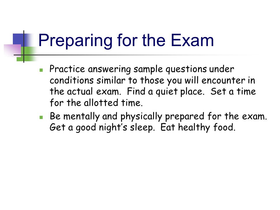 """preparing for and taking exams essay Essay exams test you on """"the big picture""""- relationships between major concepts and themes in the course here are some suggestions on how to prepare for and."""