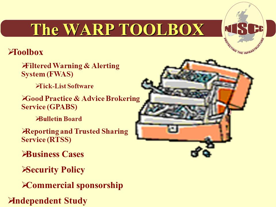 The WARP TOOLBOX Toolbox Business Cases Security Policy