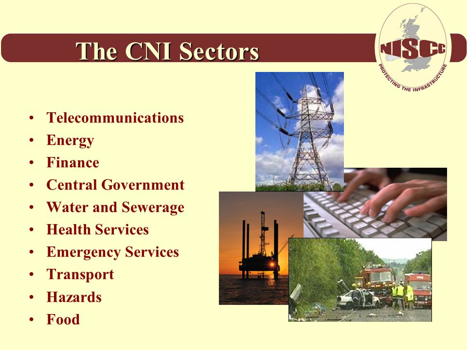 The CNI Sectors Telecommunications Energy Finance Central Government