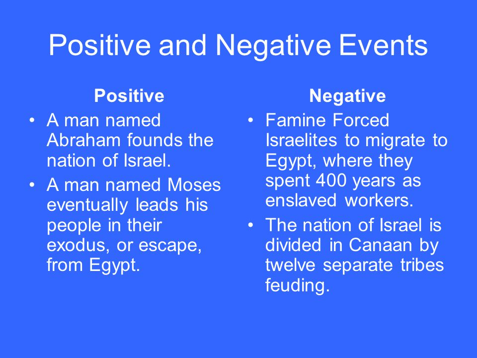 Positive and Negative Events