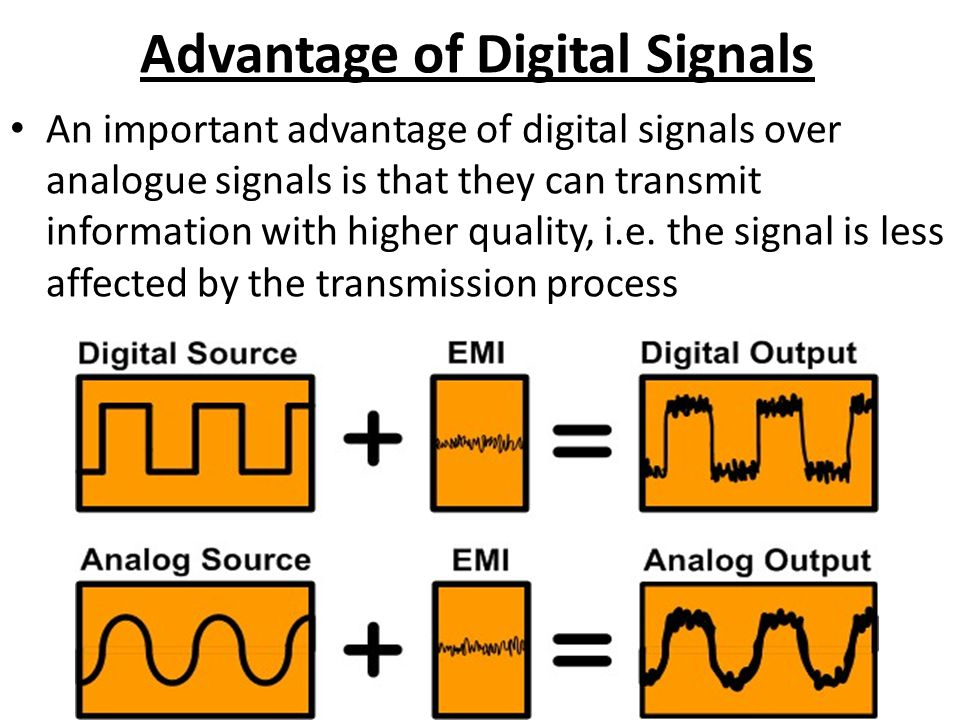 Advantage of Digital Signals