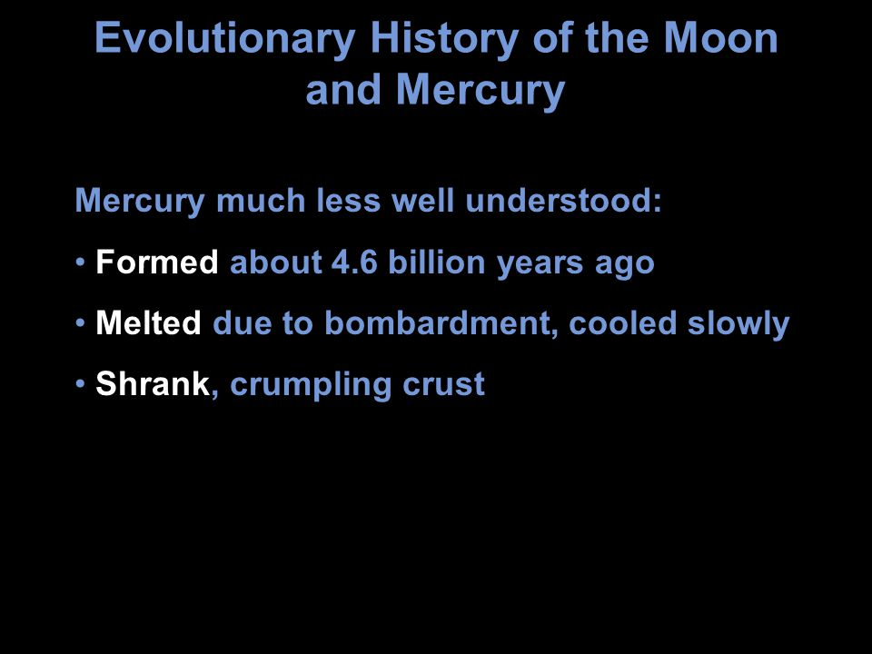 Evolutionary History of the Moon and Mercury