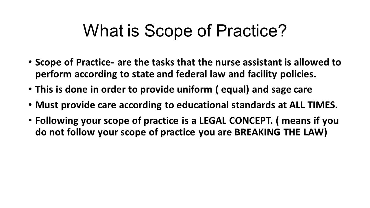 what is scope of practice Statement of scope of practice hti healing touch certificate program  print official document purpose: this scope of practice statement defines.