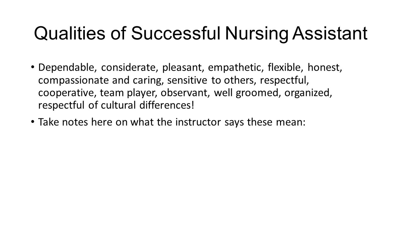 when i was a certified nursing assist essay