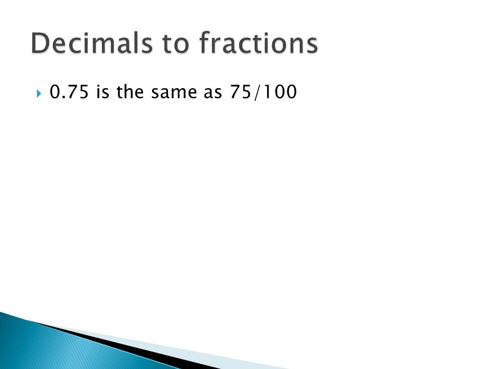 Lesson 4.2 Fractions, Decimals and Percents - ppt video online ...