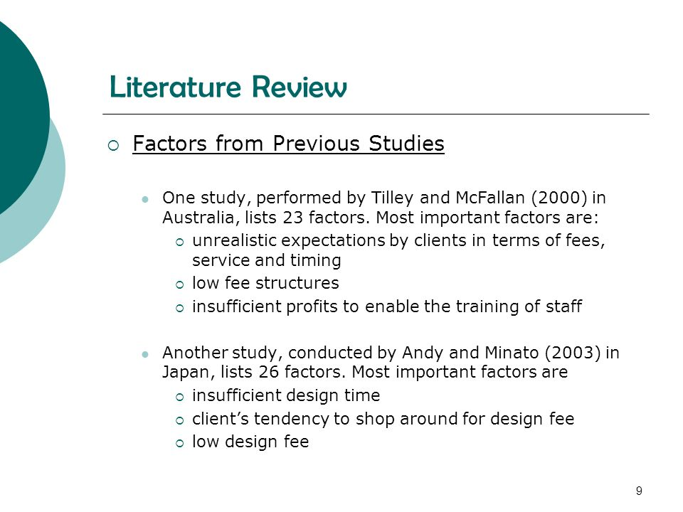 Uncovering Factors of Project Success: A Literature Review