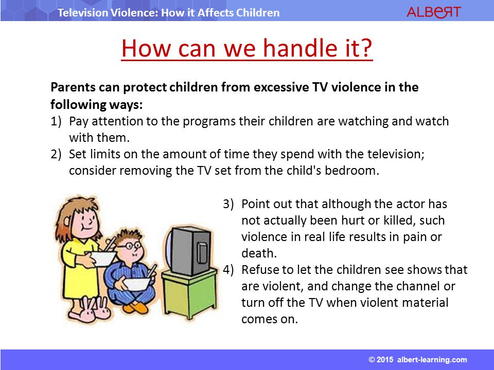 The effects of violent television programs on children