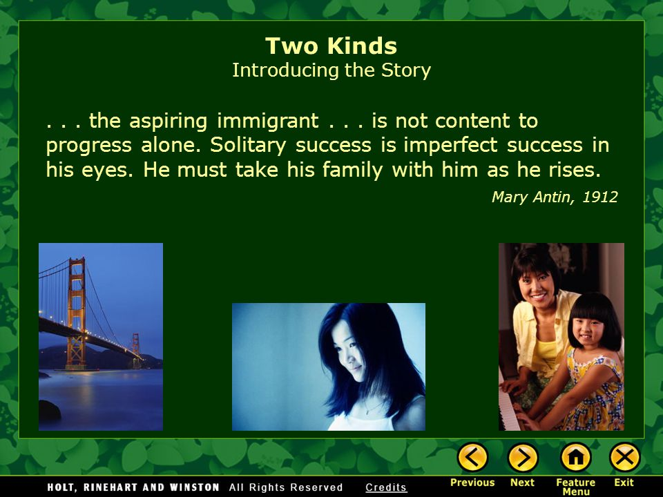 two kinds by amy tan introducing the story ppt  two kinds introducing the story