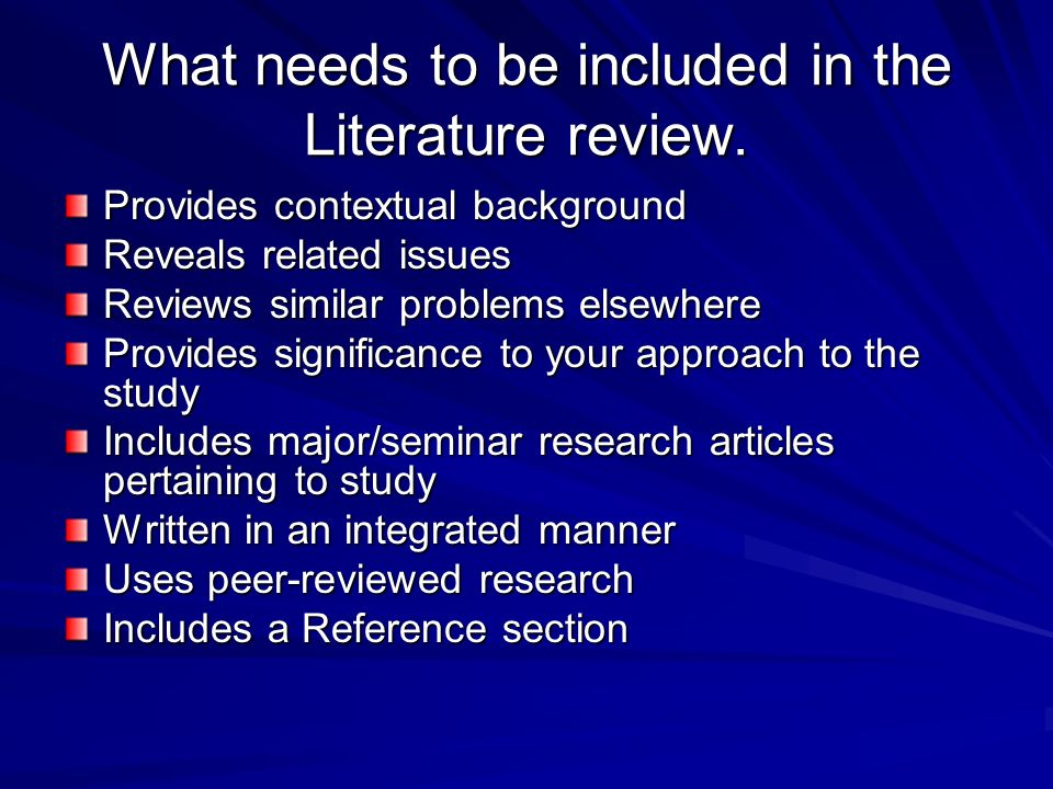 a literature review and critique on Checklist for analyzing a literature review introduction to the review is there evidence of analysis and critique of individual studies.