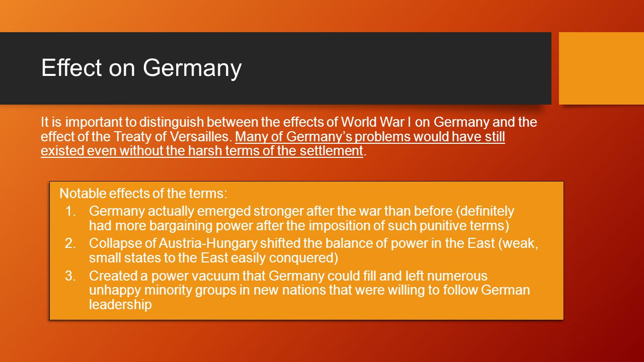 Why did Germany get punished by the Treaty of Versailles?