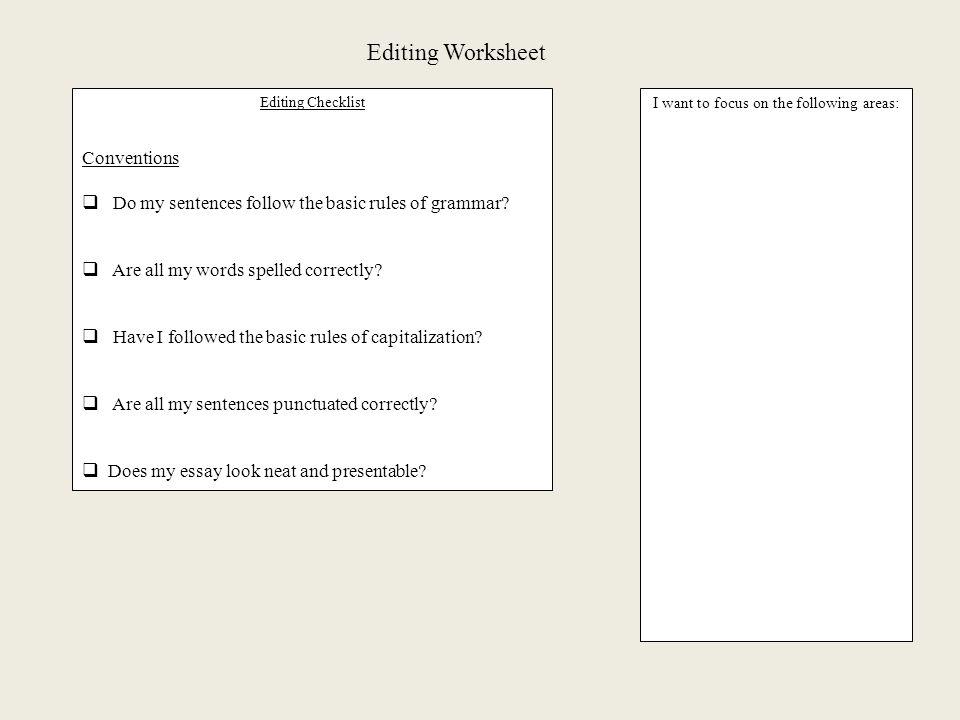Essay order format