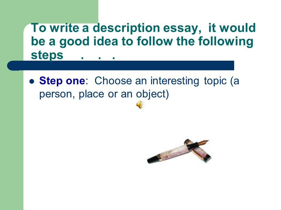 steps to follow to write a good essay A good essay, rich with anecdotes and personality, will answer those questions and stand out from the pile a version of this article appears in print on , on page f 8 of the new york edition with.