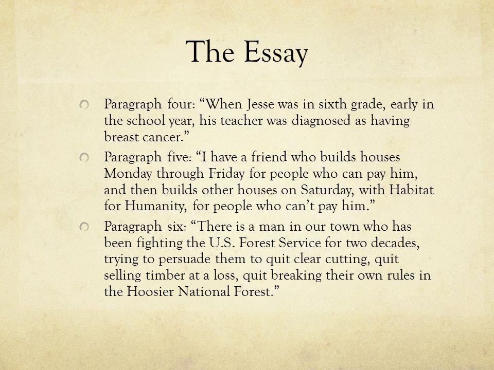 How many paragraphs should a narrative essay be