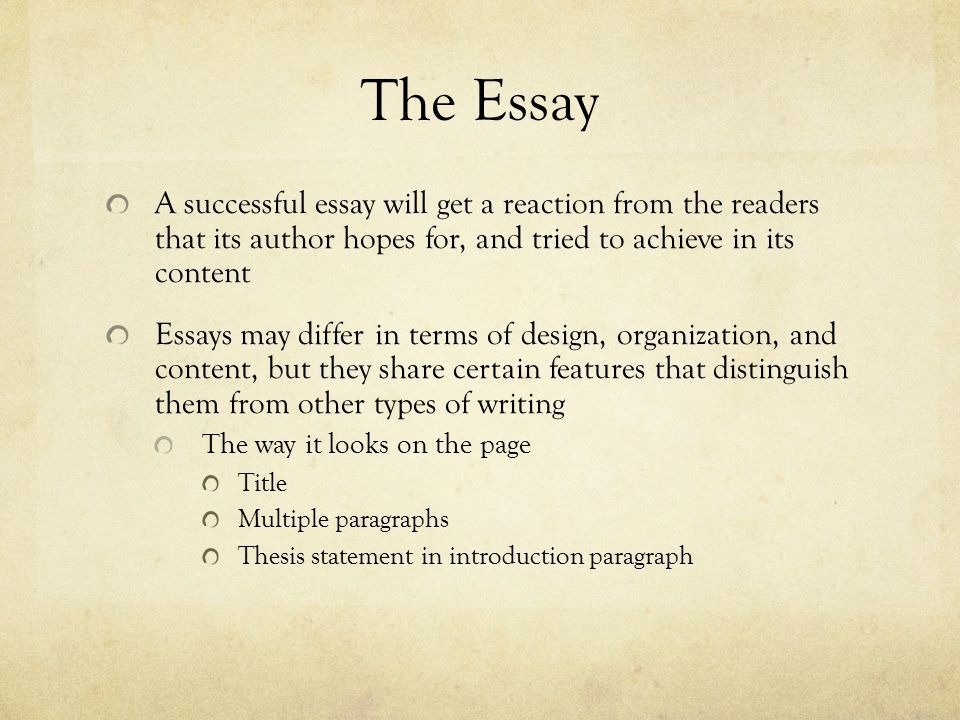 and it all comes down to this the essay ppt  the essay a successful essay will get a reaction from the readers that its author hopes