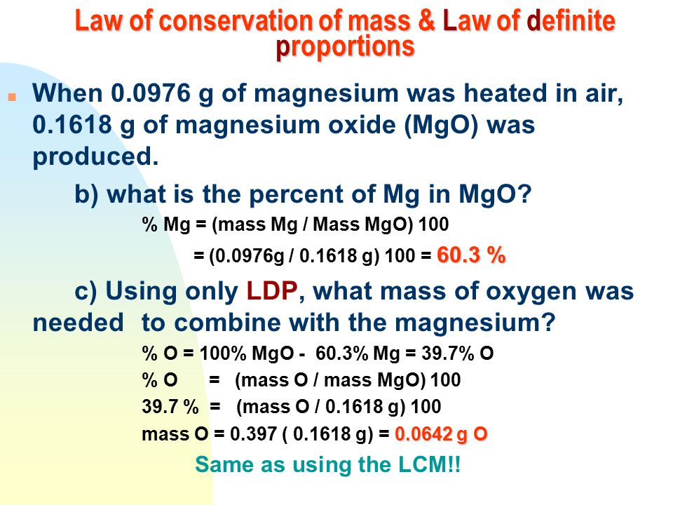 Lavoisier: The Law of Conservation of Mass - ppt download