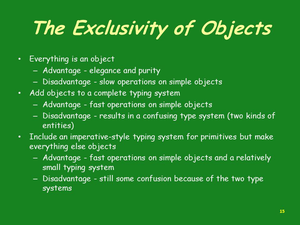 The Exclusivity of Objects