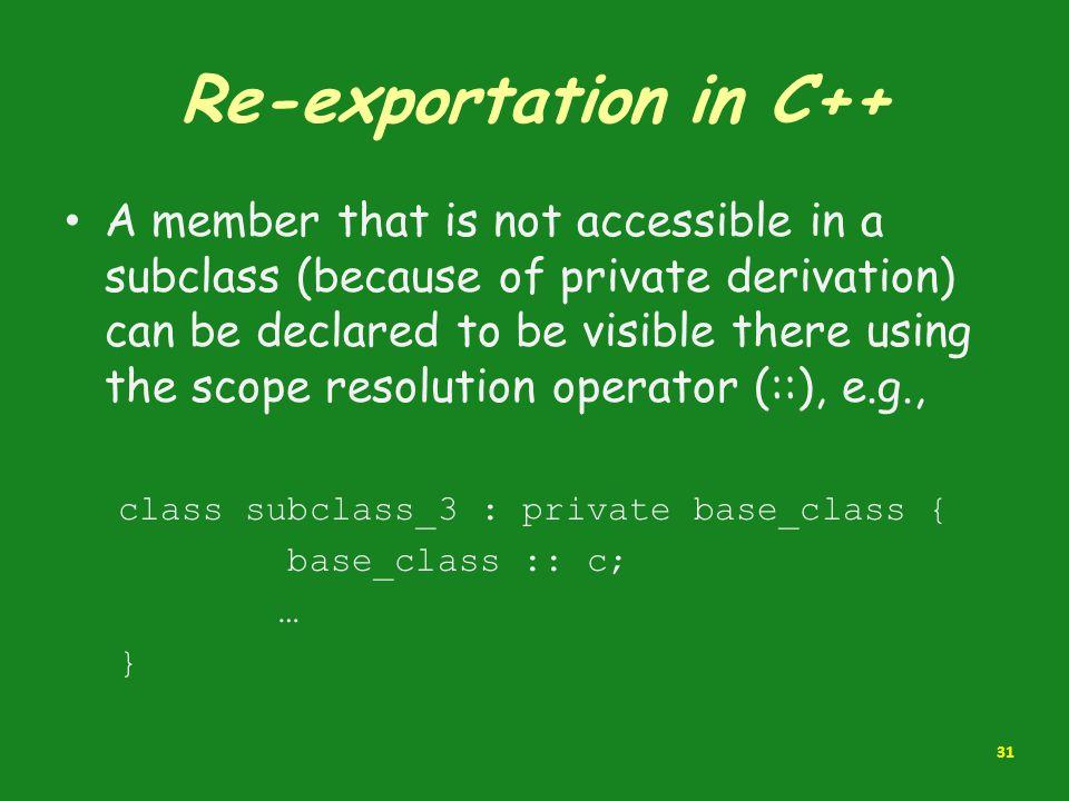 Re-exportation in C++