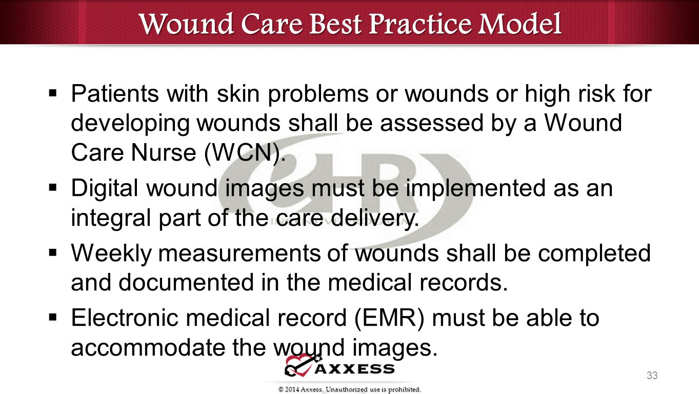 best practice in wound care Scope of practice for registered nurses: standards, limits and conditions  moist  wound healing is not appropriate for non-healable and healable dry arterial   best practice recommendations for preparing the wound bed: update 2006.