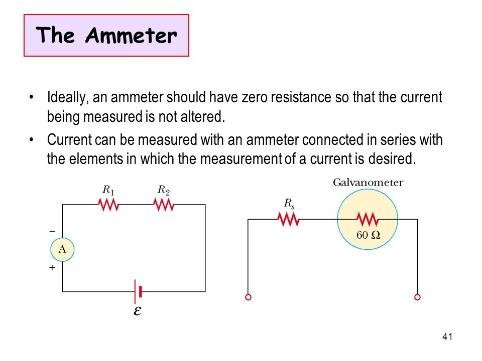 Where Are Ammeters Connected : Rumus yang dipakai ppt video online download