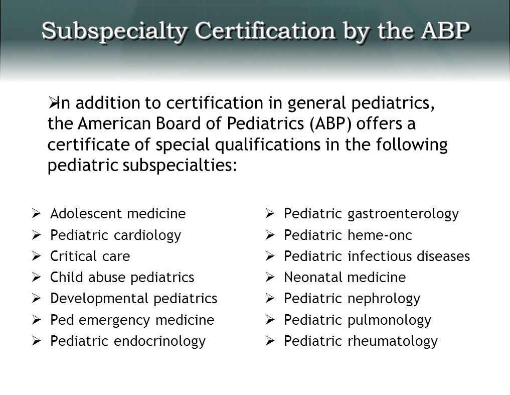 Pediatric workforce shortages policy and advocacy challenges subspecialty certification by the abp 1betcityfo Image collections