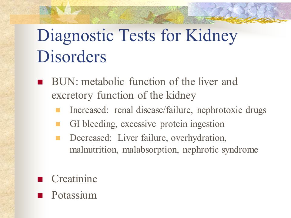 Diagnostic Tests for Kidney Disorders