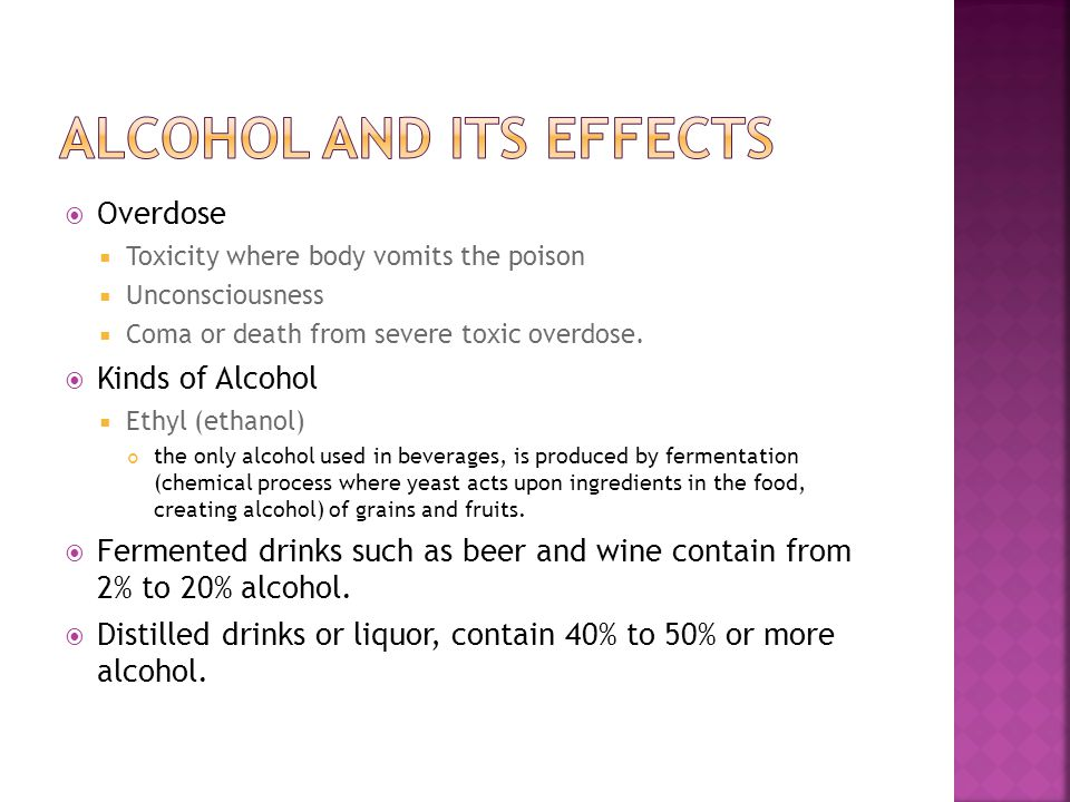 alcohol and its effects Steele cm(1), josephs ra author information: (1)university of michigan this article explains how alcohol makes social responses more extreme, enhances important self-evaluations, and relieves anxiety and depression, effects that underlie both the social destructiveness of alcohol and the.