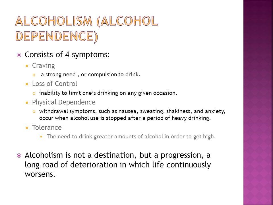 alcoholism and deterioration