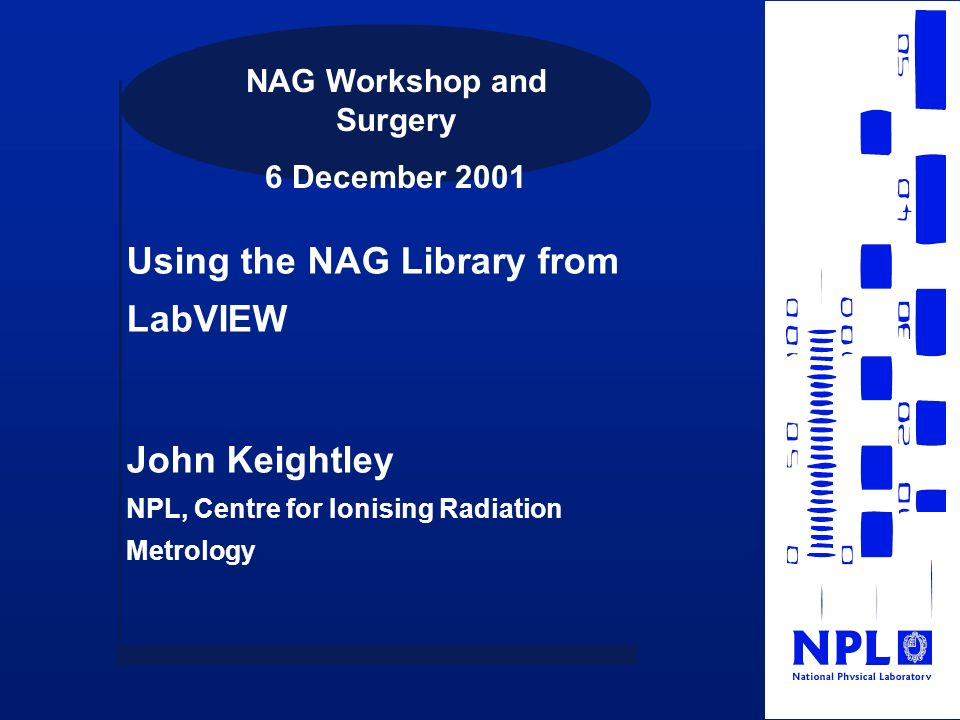 NAG Workshop and Surgery
