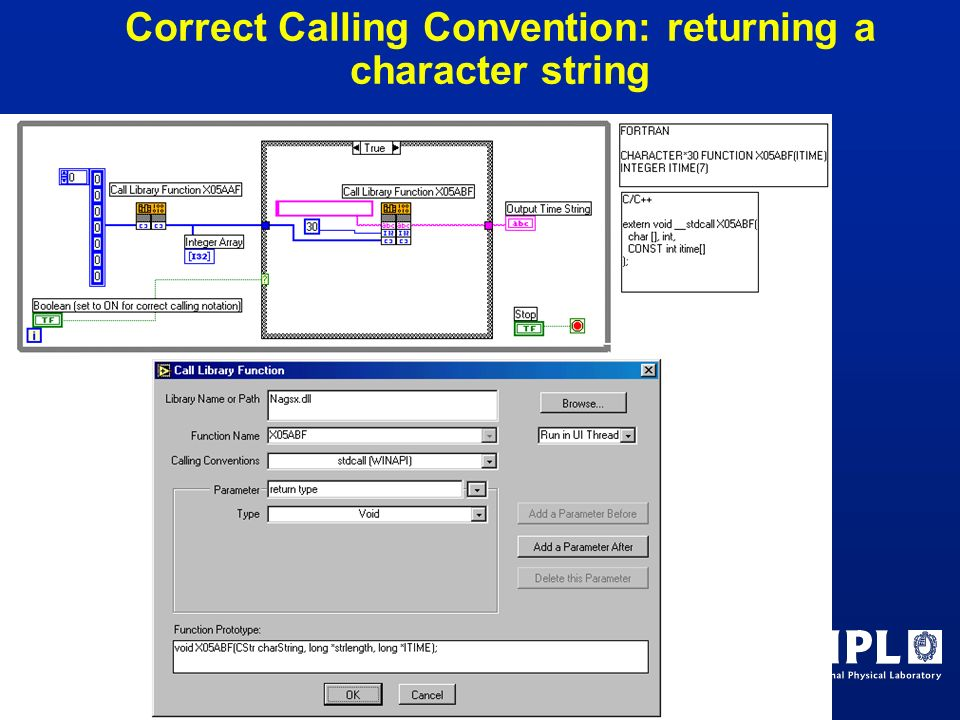 Correct Calling Convention: returning a character string