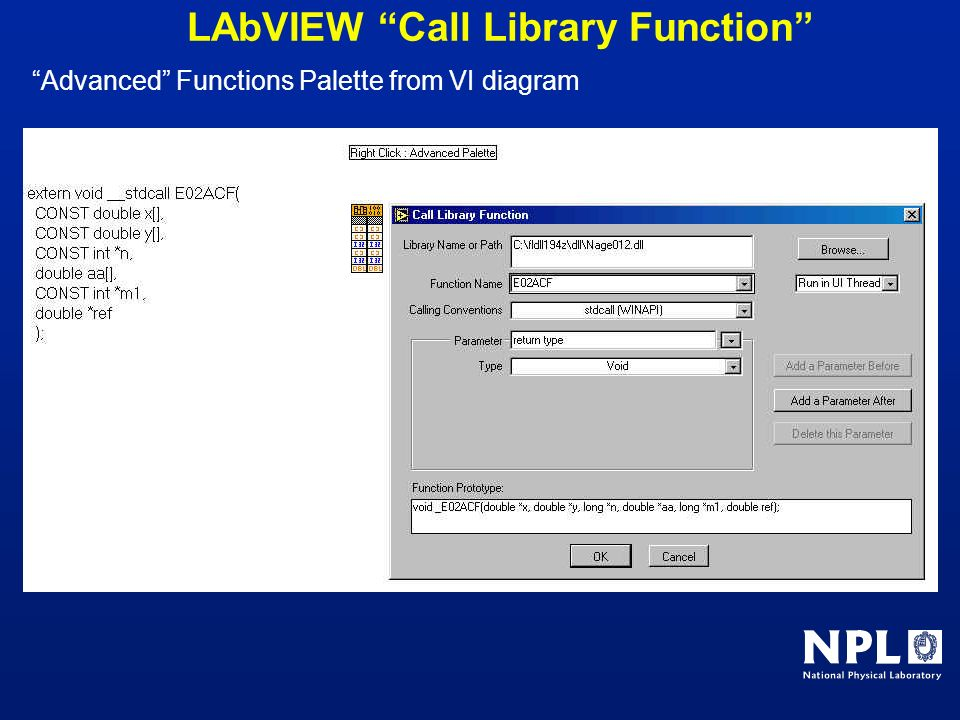 LAbVIEW Call Library Function