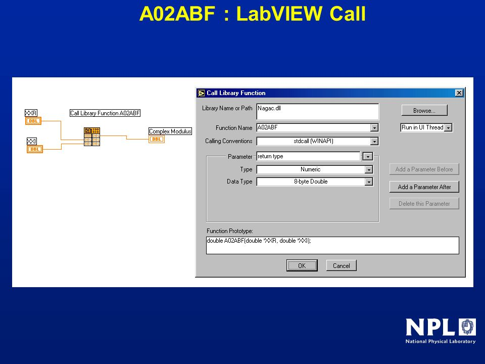 A02ABF : LabVIEW Call