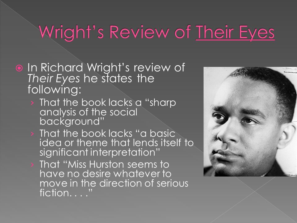 Wright's Review of Their Eyes