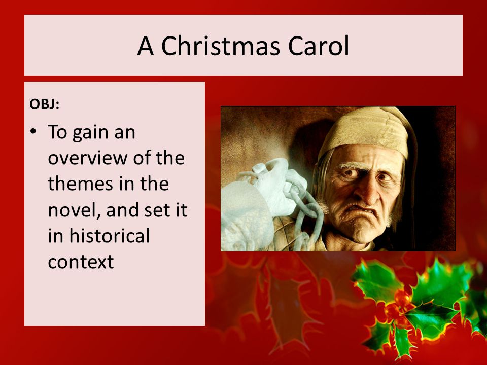 an overview of the christmas carol scene A christmas carol is a victorian morality tale of an old and bitter miser, ebenezer scrooge, who undergoes a profound experience of redemption over the course of.