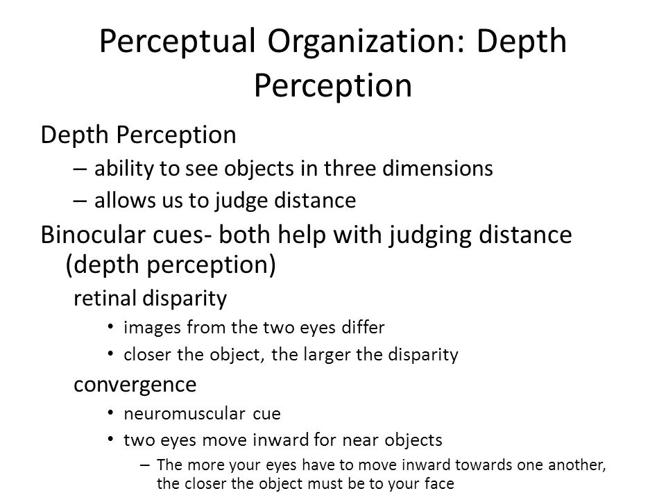 depth perception an inborn skill Dance therapy essays: over 180,000 dance therapy essays she developed a process called movement in-depth, an extension of her understanding of dance, movement, and depth psychology depth perception, an inborn skill.