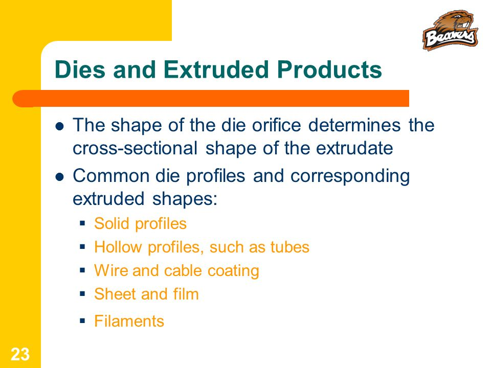 Dies and Extruded Products