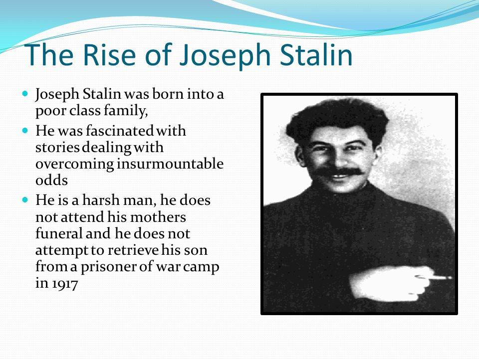 an analysis of joseph stalins rise to power Adapted from biography video on josef stalin focusing on his rise to power for educational use  rise of josef stalin just for education  the myth and reality of joseph stalin's order no .