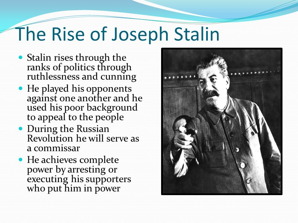 an analysis of the stalins rise to power This essay will analyze stalin's rise to power through the study of four main  elements, which can be denominated as situation in the ussr,.