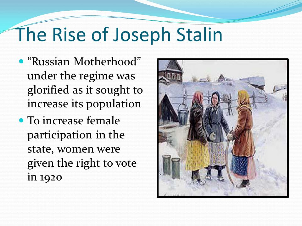 the rise to power of joseph stalin in russia Joseph stalin is often considered the worst perpetrator what conditions allowed for the rise of stalin during this whole process of stalin rise to power.