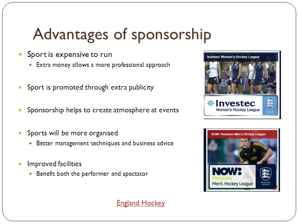 sponsorship advantages and disadvantages thesis Business essays: advantages and disadvantages of hstorical cost accounting.