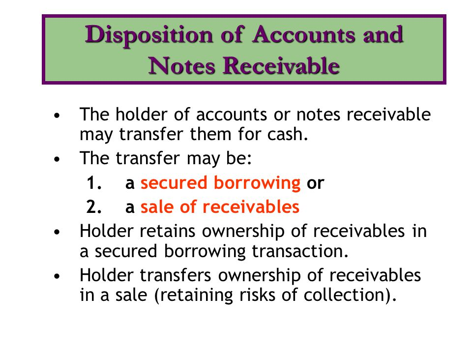 difference between account receivable and notes receivable Start studying accounts receivable, notes receivable, & revenue (chapter 11 auditing) learn vocabulary, terms, and more with flashcards, games, and other study tools.