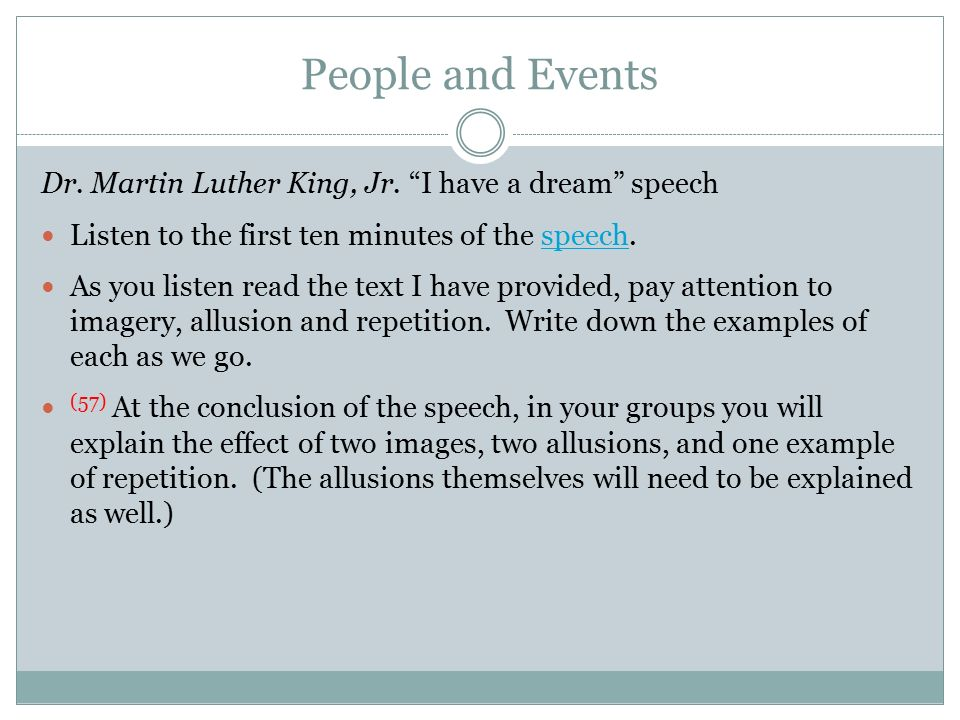 martin luther king i have a dream speech written down Read aloud the excerpts from the i have a dream speech by martin luther king write them down on written into their organizers again, have the groups.