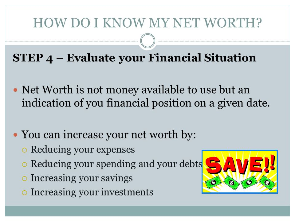how do i know my net worth - Narcopenantly