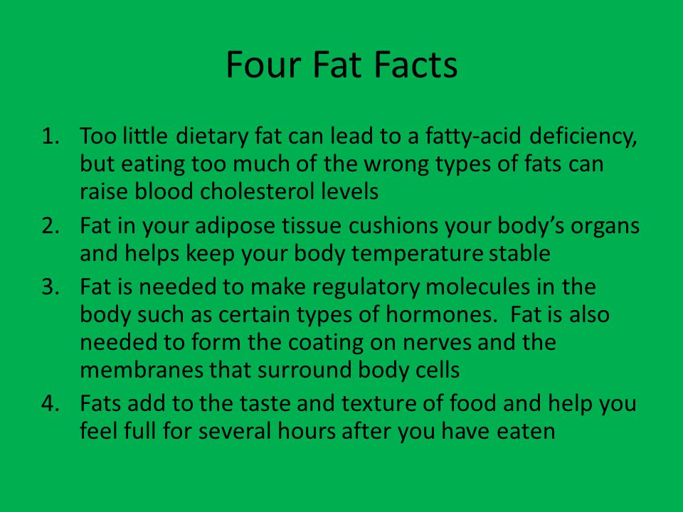 Four Fat Facts
