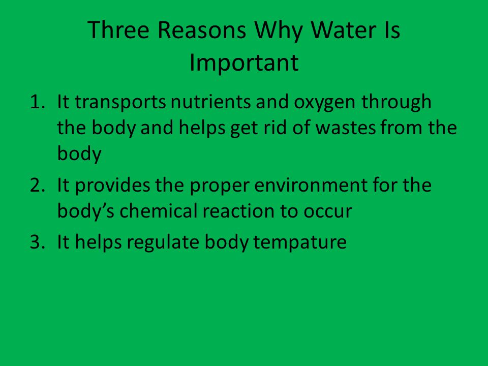 1 Water - its importance and source