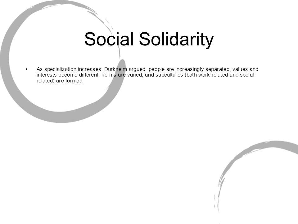 emile durkheim social solidarity Mestrovic, stjepan gabriel, emile durkheim and the reformation of sociology, totawa,  religion, sociology of ritual social.