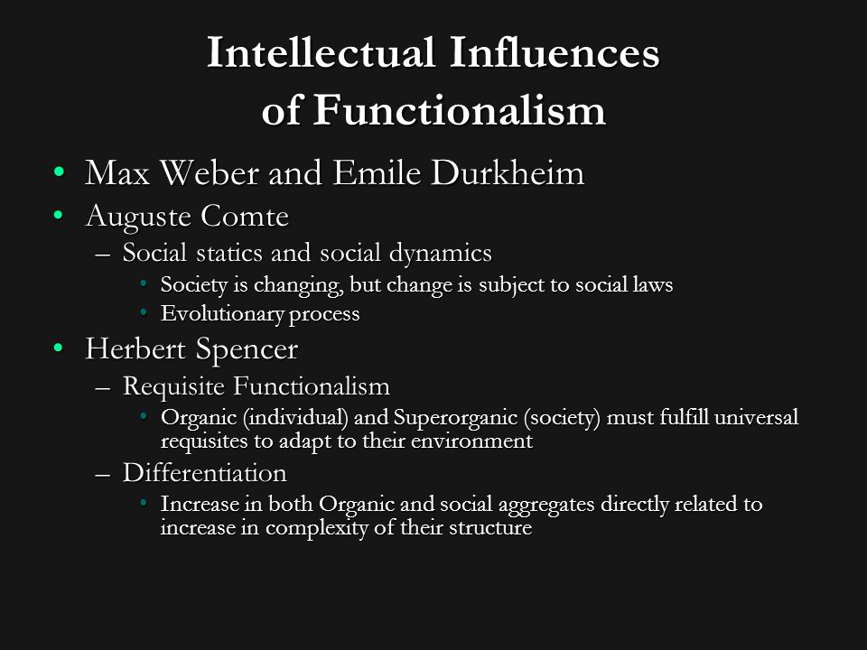 the concept of structural functionalism in talcott parsons grand theory Chapters 8 to 11: emile durkheim  it is a theory of empirical science the  concepts of which refer to something.