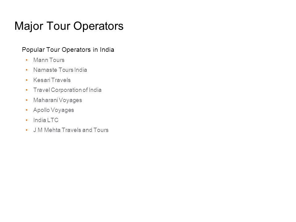 Major Tour Operators Popular Tour Operators in India Mann Tours